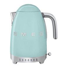Smeg Variable Temperature Kettle, Pastel Green, 3D Logo