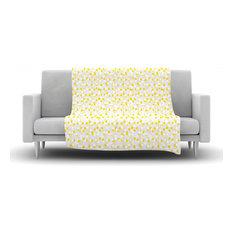 Kess Inhouse Julie Hamilton Lemon Drop Yellow Gray Fleece Blanket 30