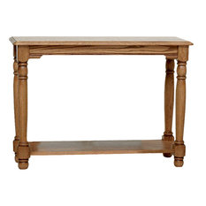 Country Trend Solid Oak Sofa Table, Natural