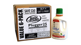 Rainguard Plugger 25 Concentrate Value-Pack 6 Qts, Makes 30 Gallons