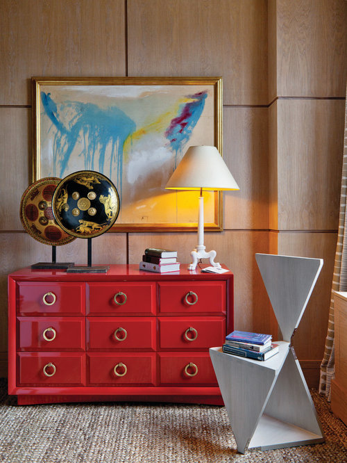 chest living room. Example of a trendy home design in New York Chest Of Drawers  Houzz