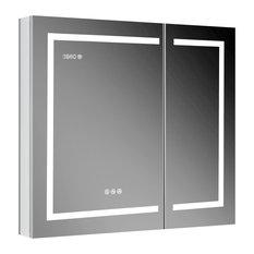 LED Medicine Cabinet With Defog, Dimmer, Makeup Mirror, Outlets, 36x32