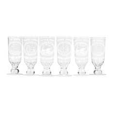 Sailor Quote Beer Glasses, Set of 6