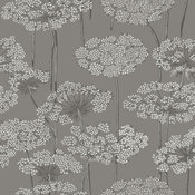 Charcoal Dandelion Meadow Wallpaper Bolt