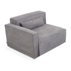 Mix Modular Sectional, Left Arm-Piece, Vintage Mineral