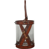 Small Leather Hurricane With Handle
