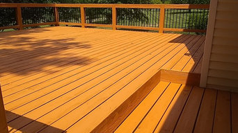 Strip and Stain of Deck & Lattice