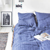 Linen Duvet Cover, Denim