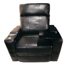 RowOne - Row One Plaza Gaming Chair With Bluetooth Speaker System, Black Bonded Leather - Gaming Chairs