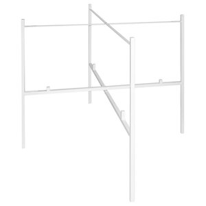 White Double Tray Stand