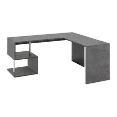 Esse Modern Corner Desk, Dark Grey