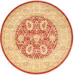 Unique Loom - Unique Loom Edinburgh Adel, Red, 6'x6', Round - The classic look of the Edinburgh Collection is sure to lend a dignified atmosphere to your home. With an array of colors and patterns to choose from, there�s a rug to suit almost any taste in this collection. This Edinburgh rug will tie your home�s decor together with class and amazing style.
