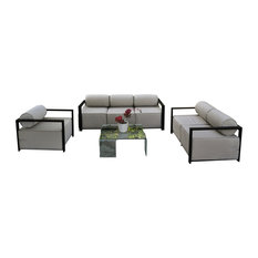 Solis Volantes Outdoor Deep Seated Sofa Set, Sofa, Loveseat and Lounge Chair