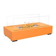 Regal Flame Utopia Ventless Tabletop Portable Bio Ethanol Fireplace, Orange