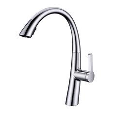 Eviva Zoe Single Handle Bathroom Sink Faucet, Brushed Nickel