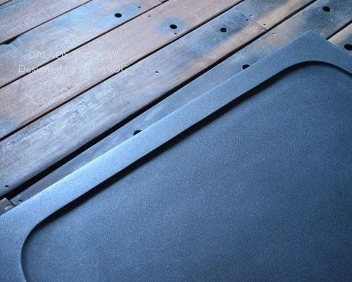 receveur de douche en pierre 180x90 granit noir dalaos. Black Bedroom Furniture Sets. Home Design Ideas