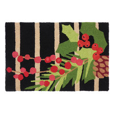 Pine Berry Garland Holiday Decor Indoor Outdoor Accent Rug