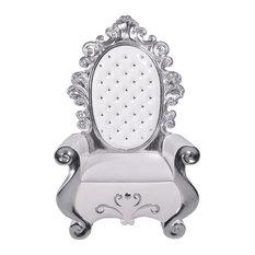 "63"" Silver And White Santa Throne"