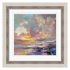 """Calm Reflections"" Framed Print by Doug Eaton, 71x71 cm"