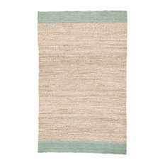 Jaipur Living Mallow Natural Bordered Tan/Blue Area Rug, 9'x12'
