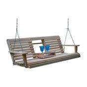 5' Cypress Flip Cup Holder Swing, Water Seal