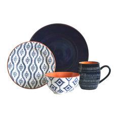 Tangiers 16-Piece Dinnerware Set, Blue