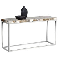 Senta console table - white onyx stone