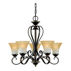 Duchess 5-Light Single-Tier Chandelier, Palladian Bronze