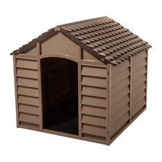 Starplast Small Dog House Kennel,  Mocha/Brown