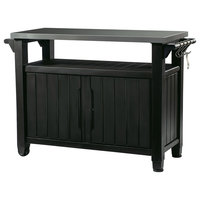 Keter Unity XL Indoor Outdoor BBQ Prep Station and Serving Cart, Graphite