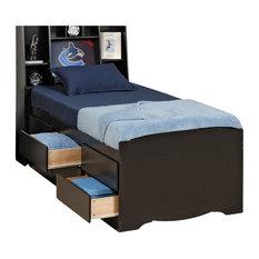 prepac furniture prepac sonoma black tall twin platform storage bed kids beds - Teen Boys Beds