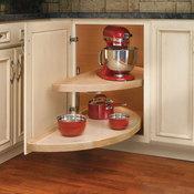 """Rev-A-Shelf 4WLS882-38-570 Wood Classic 38"""" Diameter Half Moon - Natural Wood"""