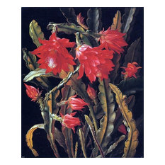 Christian Juel Mollback Cactus With Scarlet Blossoms Wall Decal