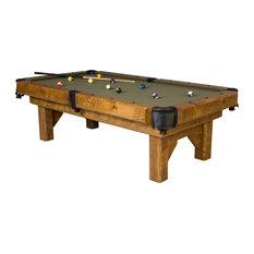 Barnwood Timber Lodge Billiards Pool Table by Viking Log, 7'