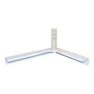 Corma Floating Corner Display Shelf, White
