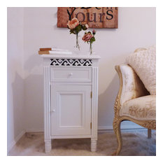 Isabelle French White Bedside Cabinet