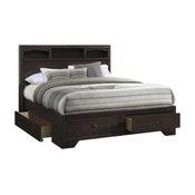 Madison Bed With Storage, Espresso, Queen