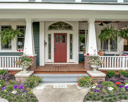 Front porch columns houzz for Craftsman porch