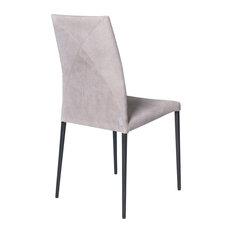 Vega Contemporary Leather Chair, Nubuck and Graphite
