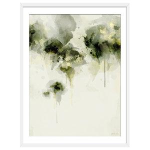 """""""Misty Morning"""" Floral Art Print, White Framed, 50x70 cm"""