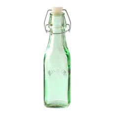Kilner Clip Top Bottle, Green, 0.25 L