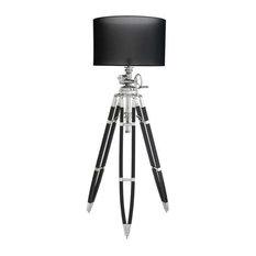 "Black Tripod Floor Lamp | Eichholtz Royal Marine, black, 37""W x 28""D x 79-89""H"