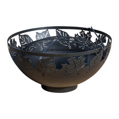 """Maxway International - 42"""" Autumn Leaves Muskoka Fire Bowl With Spark Screen and Poker - Fire Pits"""
