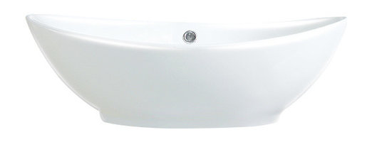 Susan China Oval Vessel Sink White 23