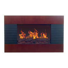 Mahogany Electric Fireplace with Wall Mount & Remote by Northwest