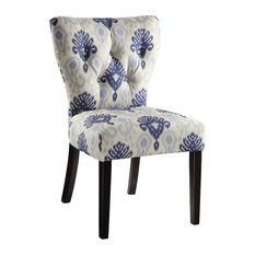Office Star Products   Andrew Chair In Medallion Ikat Blue   Dining Chairs