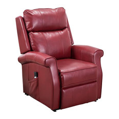 Lehman Red Traditional Lift Chair
