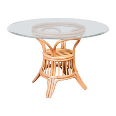 """48"""" Universal Round Dining Table Base In Antique Honey"""