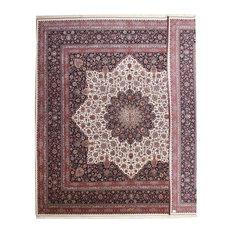 "Tabriz 80Raj Silk warp Rug Persian Rug 16'11""x16'2"", Square Hand-Knotted Classic"