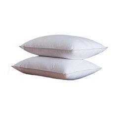 Luxurious Down Alternative Pillow, 600 Thread Count, King, Set Of 2